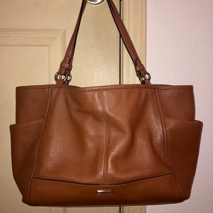 Coach Saddle Tan Pebbled Leather 'Carrie' Tote